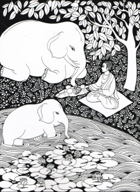 budha elephant meditation